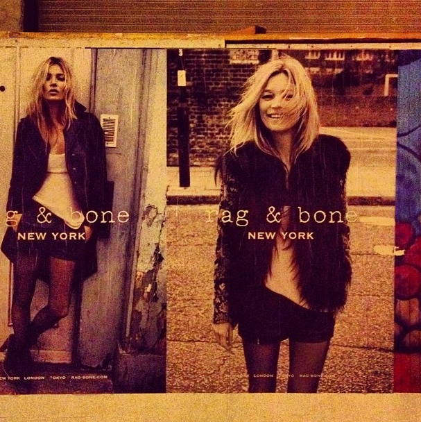 Spotted by Jen in NYC: Kate Moss for rag & bone!