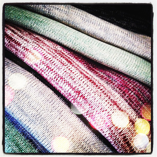 Look what arrived bright and early this morning… Our new Spring/Summer Grace knits! (Taken with Instagram at Grace)