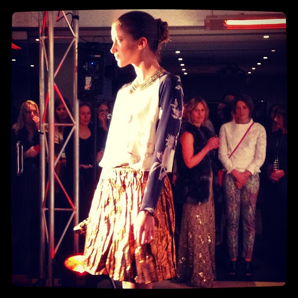 Last night we went to the launch of Fashionista's Guide to Melbourne (Grace is mentioned as one of the top ten stores - yay!).  Our outfit was featured in the runway show - Tome skirt, Grace top, Dannijo necklace and Lara Bohinc skirt are pictured here.  Check out the new website HERE for a daily dose of fashion news and more!