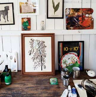 Decorating the John Derian way. Plates, trays and paper-weights by John Derian are in-store at Grace now!