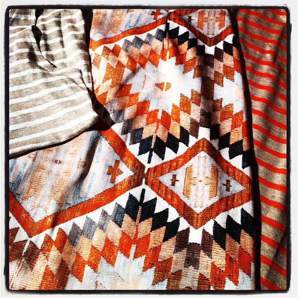 Pattern Sneak Peek: Secret South! These gorgeous colours are getting us so excited for Spring to arrive. Not long now! (Taken with Instagram at Grace)