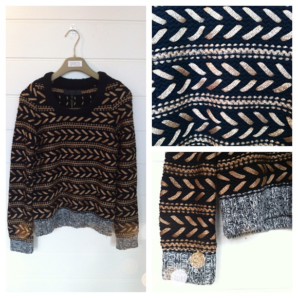 Forget 'It' shoes or handbags, this is an 'It' Knit if ever we have seen one! Rag & Bone's 'Lisbeth' crew - too beautiful! (Taken with Instagram)