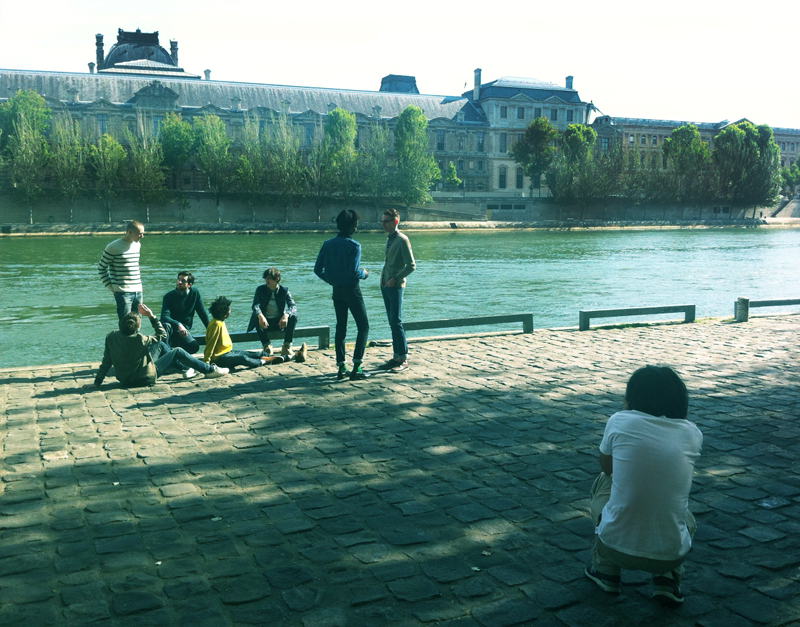 What a backdrop! Behind the scenes of an APC shoot for Brutus Magazine Japan.