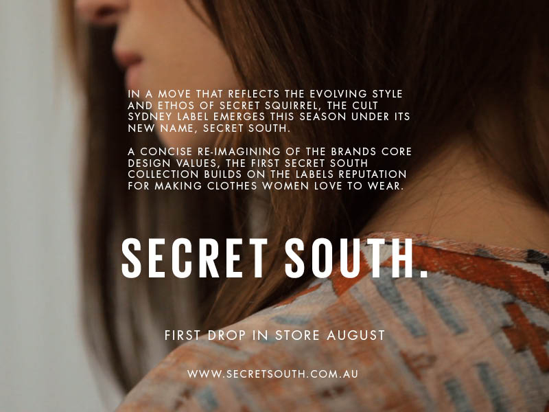 Can't wait to see what the newly renamed SECRET SOUTH will come up with next!  Due in store very soon… Connect HERE for more daily updates.