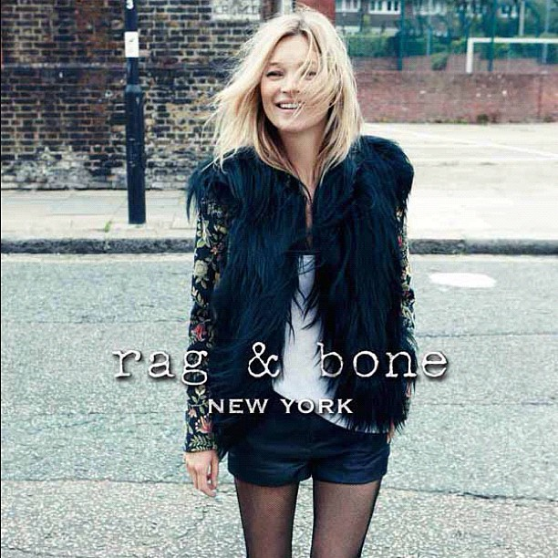 So Kate Moss is the face of Rag & Bone's Fall 12/13 campaign. Talk about fashion royalty!
