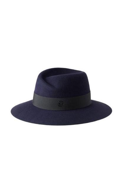 Maison Michel Virginie Felt Hat - Navy