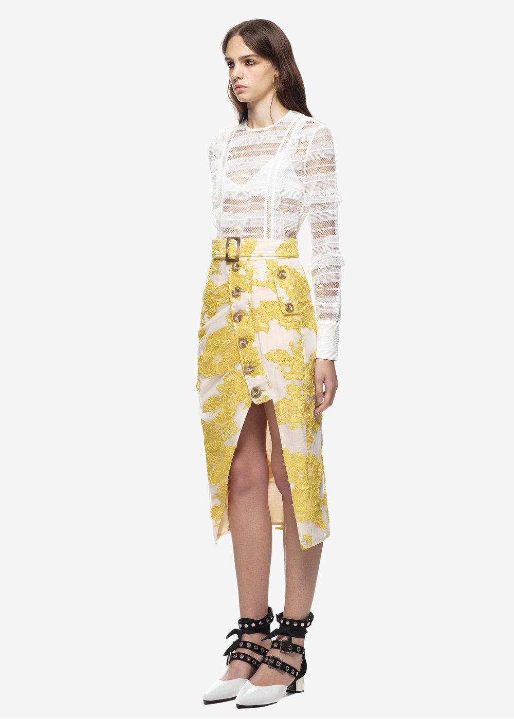 Stripe Grid Lace Top $282