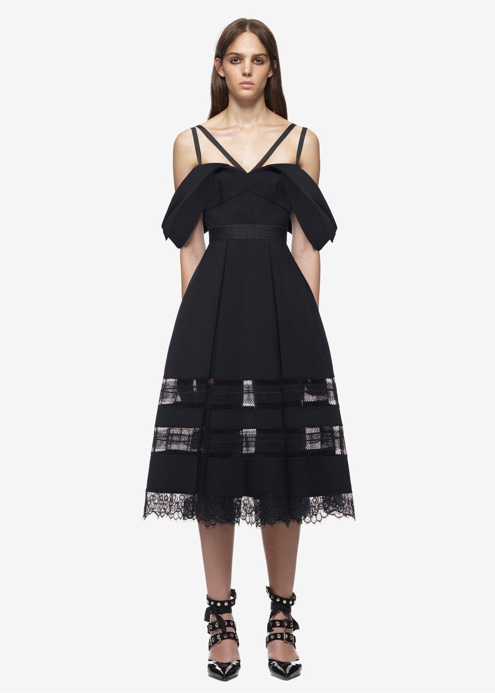 Drape Shoulder Midi Dress $498