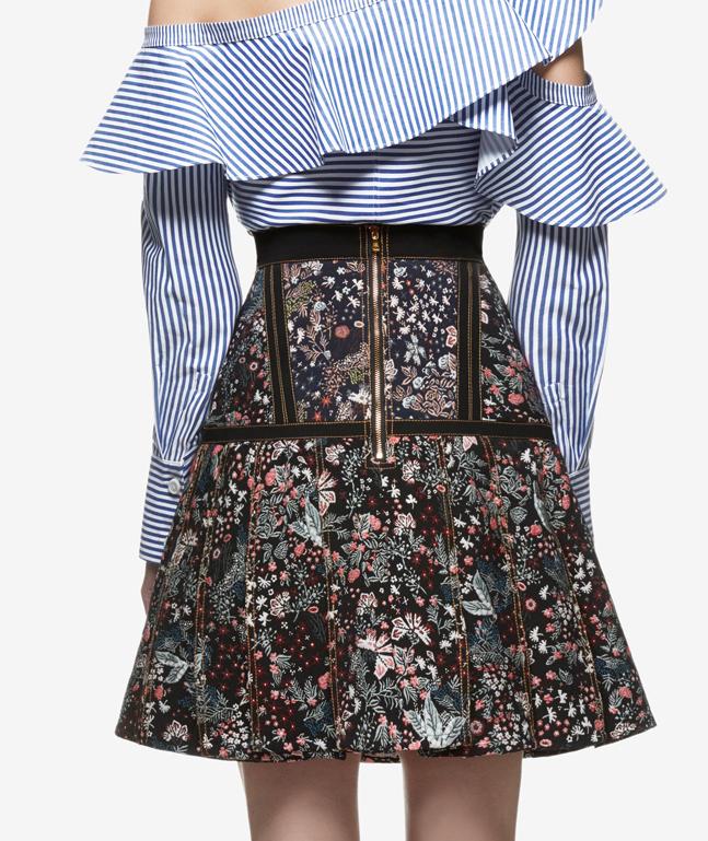 Floral Jacquard Skirt $348