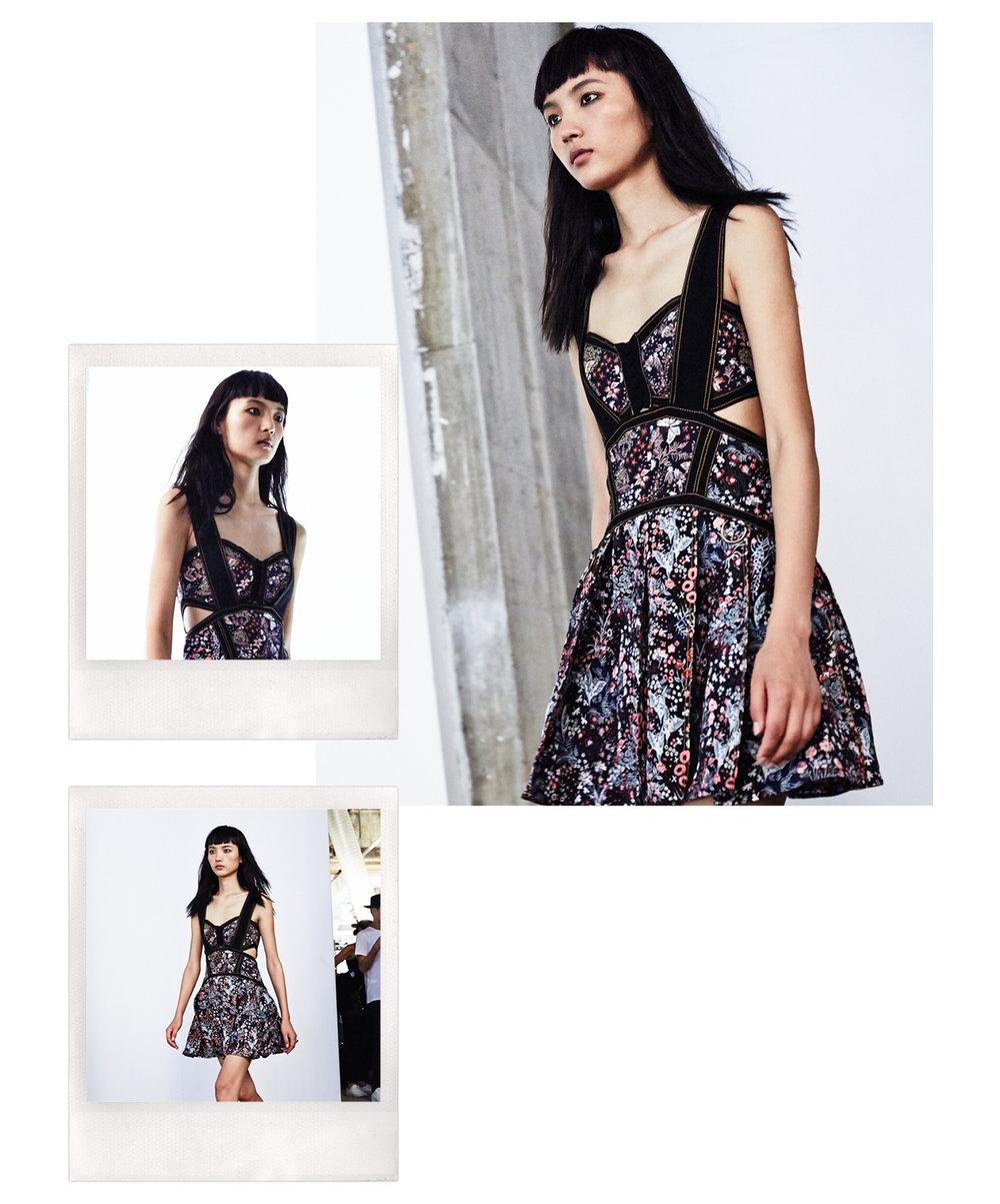 Floral Jacquard Mini Dress $398