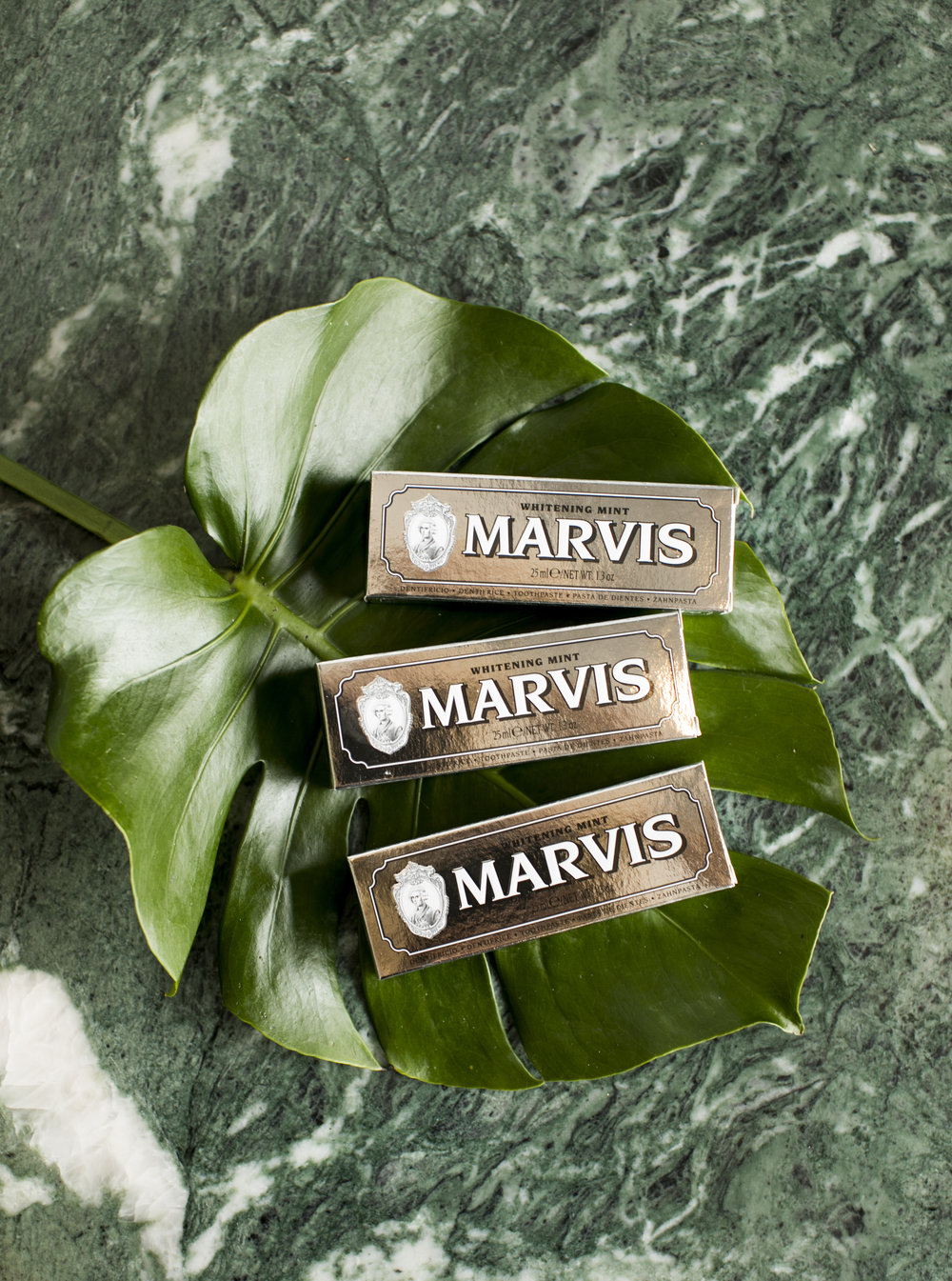 Did you know...  MARVIS  is a classic toothpaste created using a long & precise traditional method which guarantees a rich, smooth texture.  It is refreshing and offers effective protection and whitening effects.    Imported from Florence,  MARVIS  is a gorgeous statement of elegance to any bathroom.  Also available in a handy travel size it is a thoughtful little gift that packs a punch!