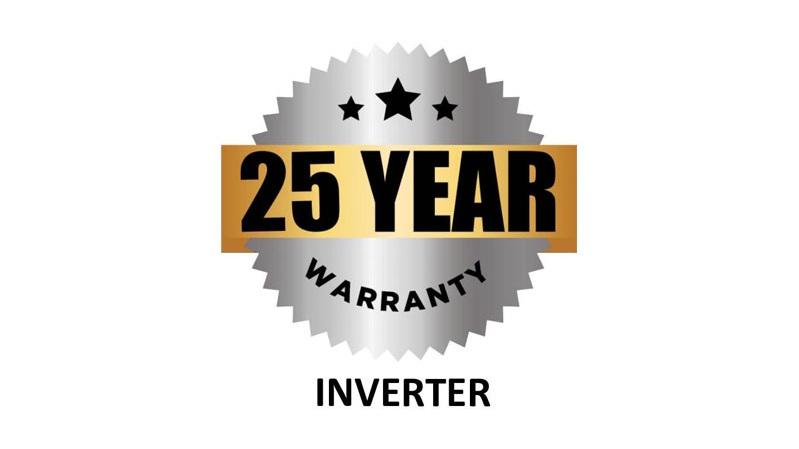25 Year Inverter Warranty Badge