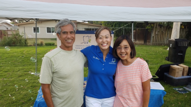 Dr. Chirco with Dr. Vincent Paranal and his wife - Los Alamitos Movies in the Park July 2016