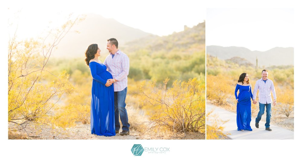 Desert inspired maternity photos