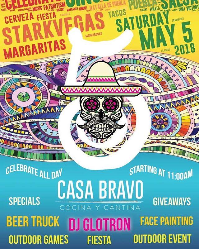 Cinco de Mayo fiesta dj set in Casa Bravo parking lot 2-10pm