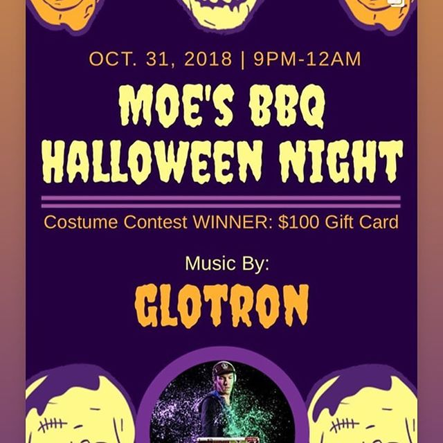 No cover tonight at Moes Halloween party @mobstarkville & costume contest!