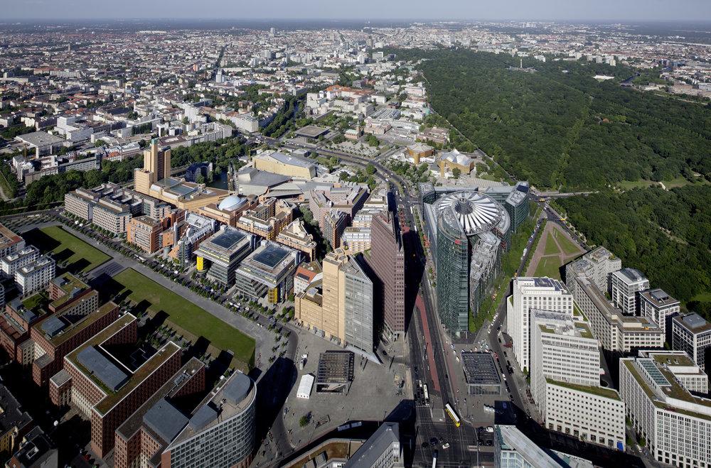 Master Plan Aerial View | Potsdamer Platz