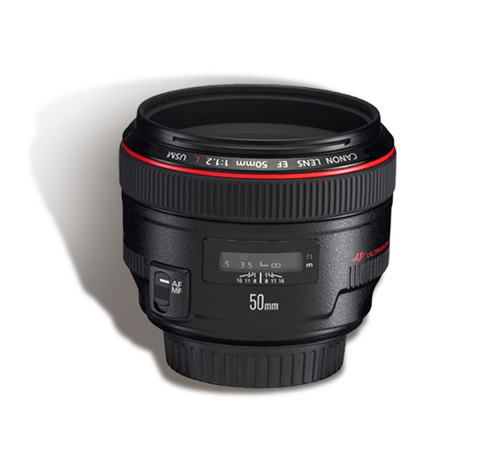 CANON 50 mm f/1.2 L  INR 1200/Day