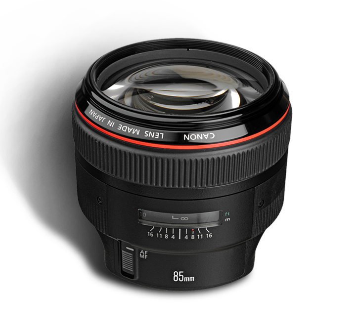 CANON 85 mm f/1.2 L  INR 1400/Day