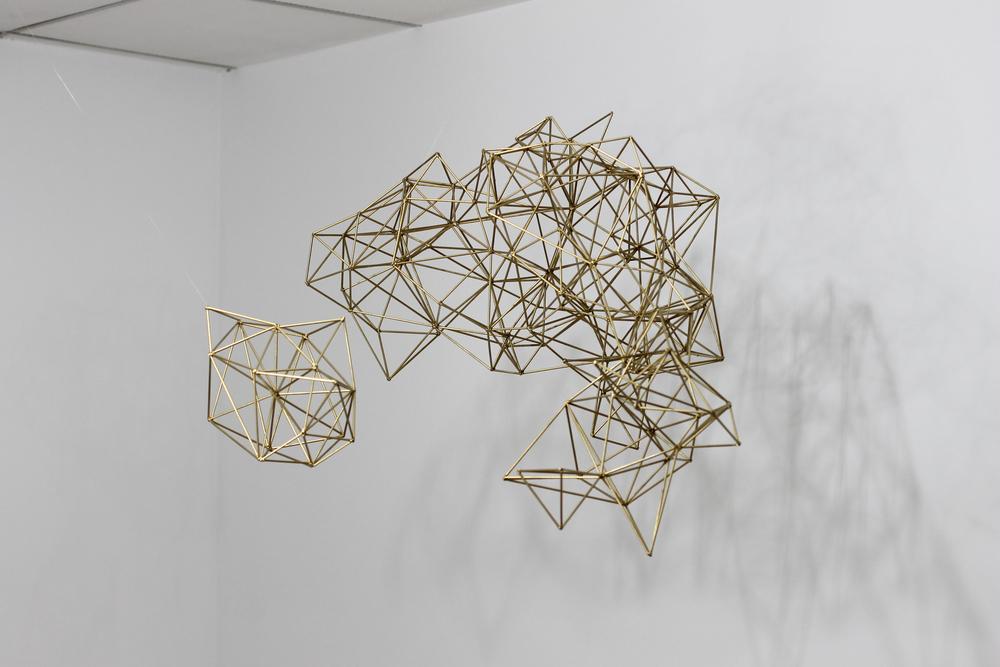 """Constellations: 26x28x48"""", wooden sticks, 2012."""