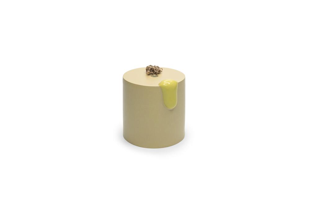 Pool Object 4: ceramic, gold luster, multiple firings, 2017.