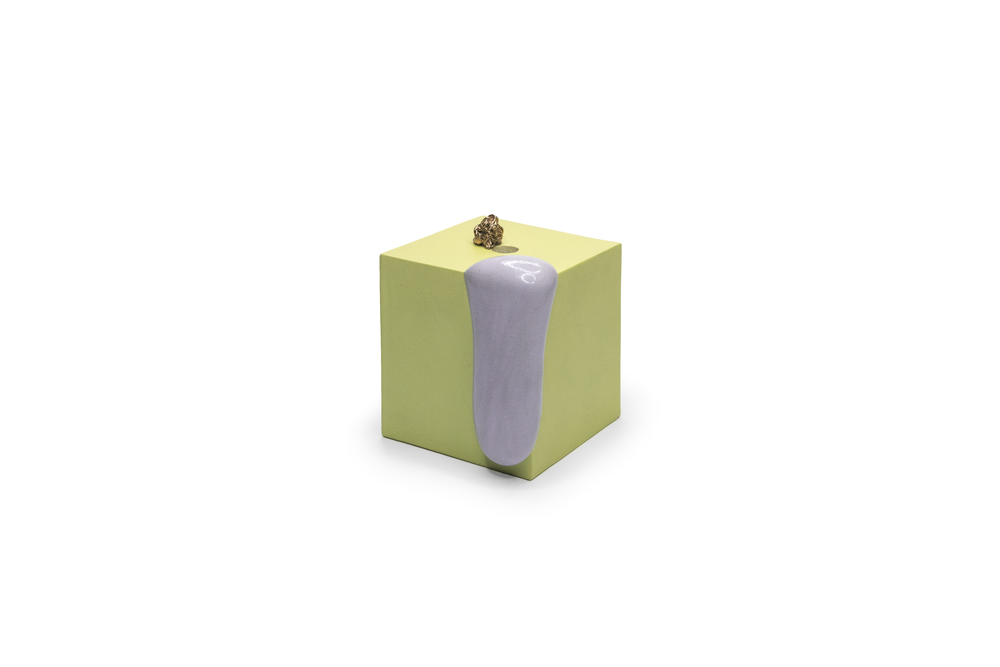 Pool Object 6: ceramic, gold luster, multiple firings, 2017.