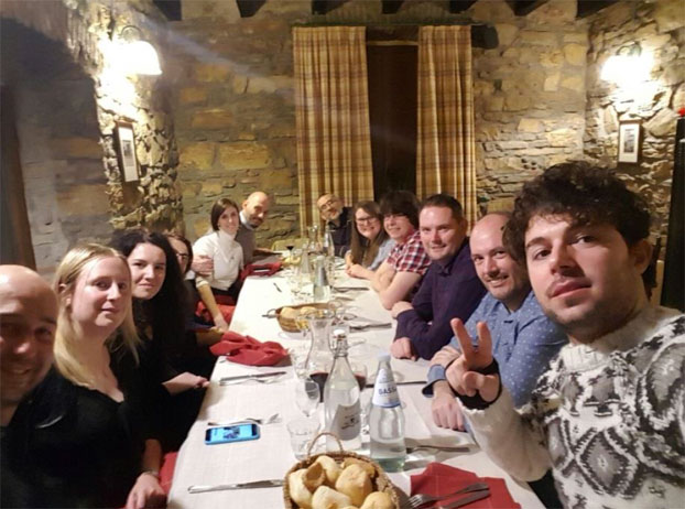 Some of the Horizon team at our Christmas Dinner, December 2016