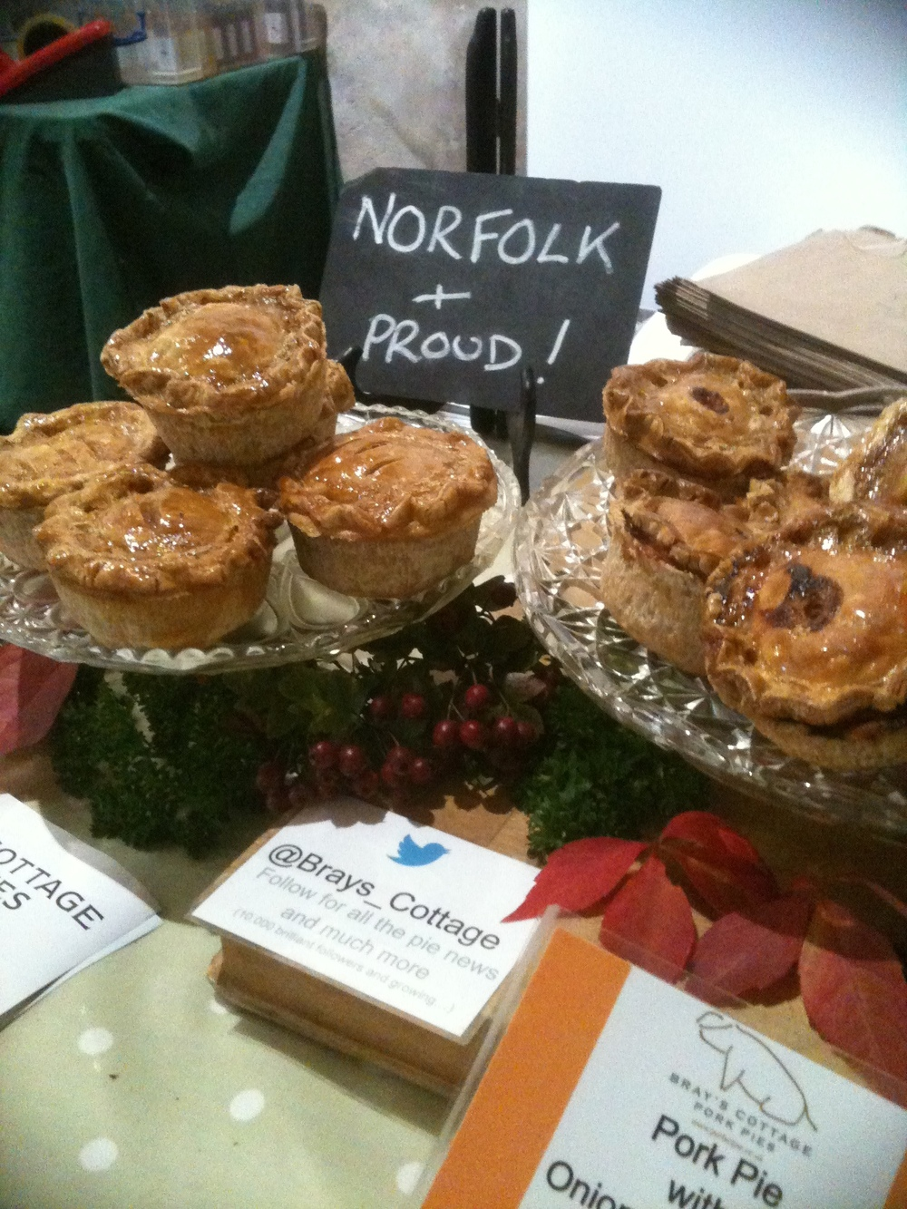 Farmer's Markets in Norfolk at Creake Abbey and Norwich which you can buy our Pork pies