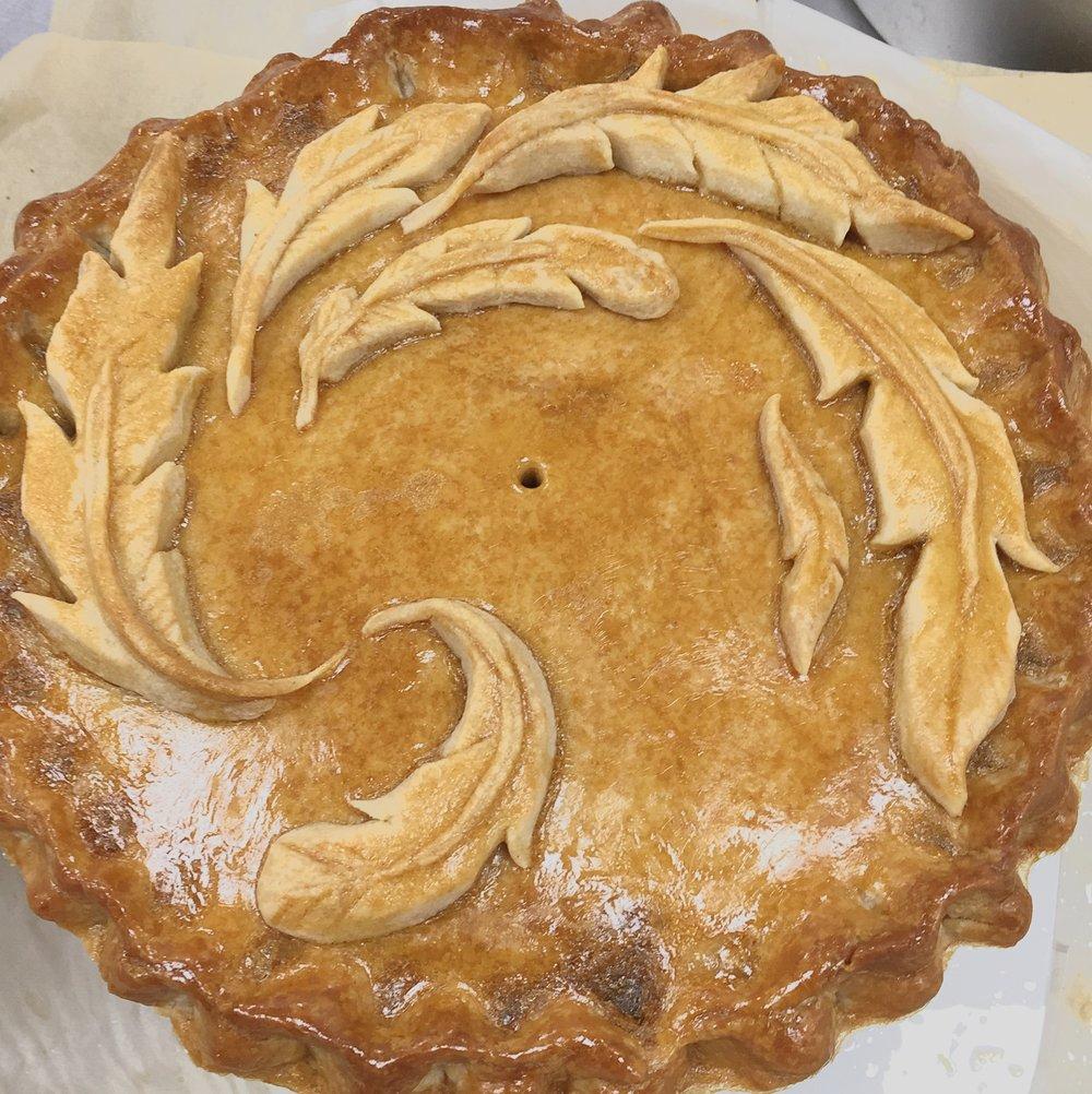 Hot water pastry pie art Bake Off