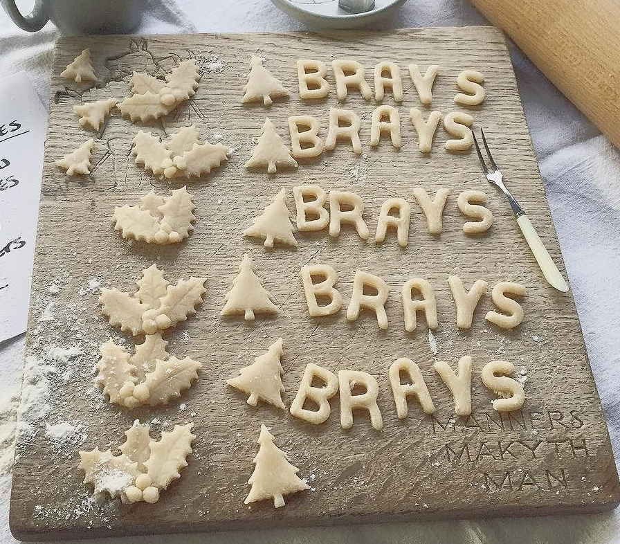 Cutting out LOTS of pastry Christmas shapes at HQ