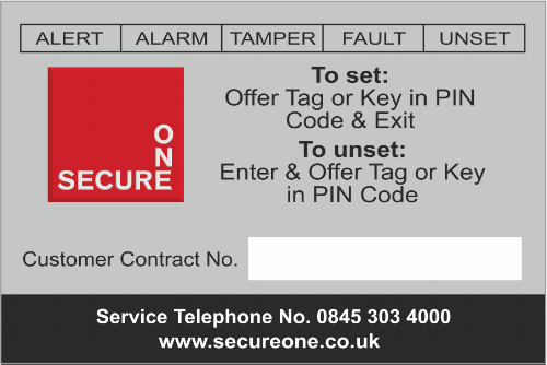 Fire Alarm Repeat Business Label