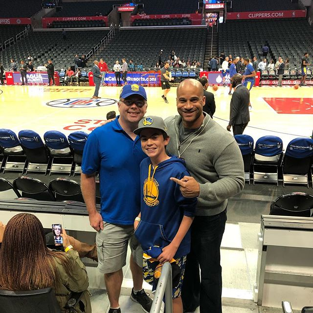 Great to see a few Hoopology kids representing the blue and gold @warriors game!  #hoopology #sandiegobasketball #shotsup #hoopologyacademy