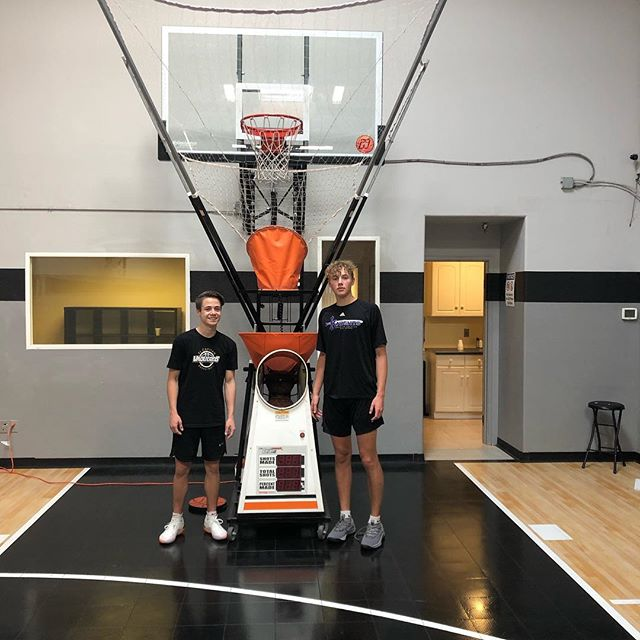 "Great to see @harrrisonmorton and @cade.raley ""make"" time to get their shots up in the Shooting Lab this morning!  600 shots in 30 minutes!  The #1 rule to becoming a great shooter is consistency and the #1 enemy is procrastination!  The machine is available for all players in the community that need a place to get up extra shots...REPS = CONFIDENCE!  #hoopology #hoopologyacademy #shotsup #shootersshoot #shootinglab #sandiegobasketball #effecient #effective #howbaddoyouwantit #spreadtheword"