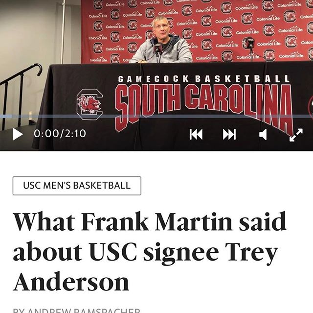 Love the headline article from University of South Carolina Coach Frank Martin about @tgo.tr3y!  Well deserved comments my man!  There is no doubt you earned every bit of that article!  Thank you Mr. and Mrs. Anderson for trusting Hoopology Academy to work with your son!  Scroll and read!  #hoopology #hoopologyacademy #journey #trusttheprocess #shootersshoot #shotsup #shothunters #neversatisfied #alwaysstrivingtobebetter #ballislife #sandiegobasketball #shotdoctor