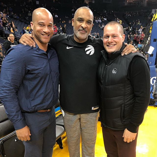 Great to hang out with 2 great #mentors @warriors @raptors with @thereal94feetofgame and @jaddiego20!  Always good to catch up fam!  #hoopology #sandiegobasketball #family #ballislife #basketballskills #lovethegame #neverforgetwhereyoucamefrom