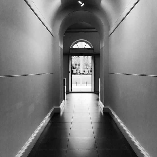 #great to be #back to @saatchi_gallery @saatchiart in #london #today .  #travel #art #black #white #power #light #entrance