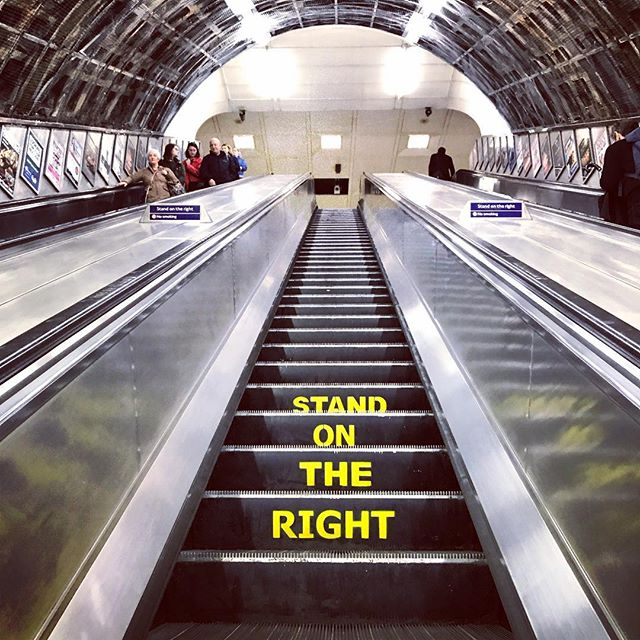 #stand #on #the #right #london #travel #escalator #up #path #line #instagood #instadaily