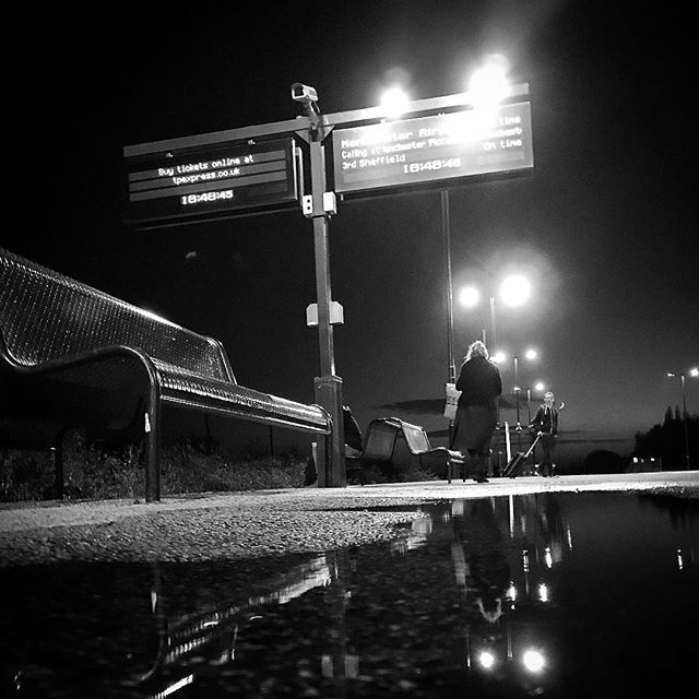 #tonight @ #barnetby #train #station #uk . #loneliness #lonley #waiting #bw #black #white #mono #monochrome #sorrow #tone #tonal #contrast #reflection #light #jj #photography #instadaily #instagood #instaart #soul #uk #story
