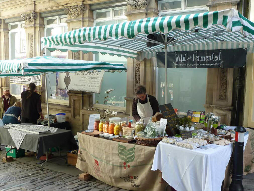 Katie sets up at The Frome Independent Market