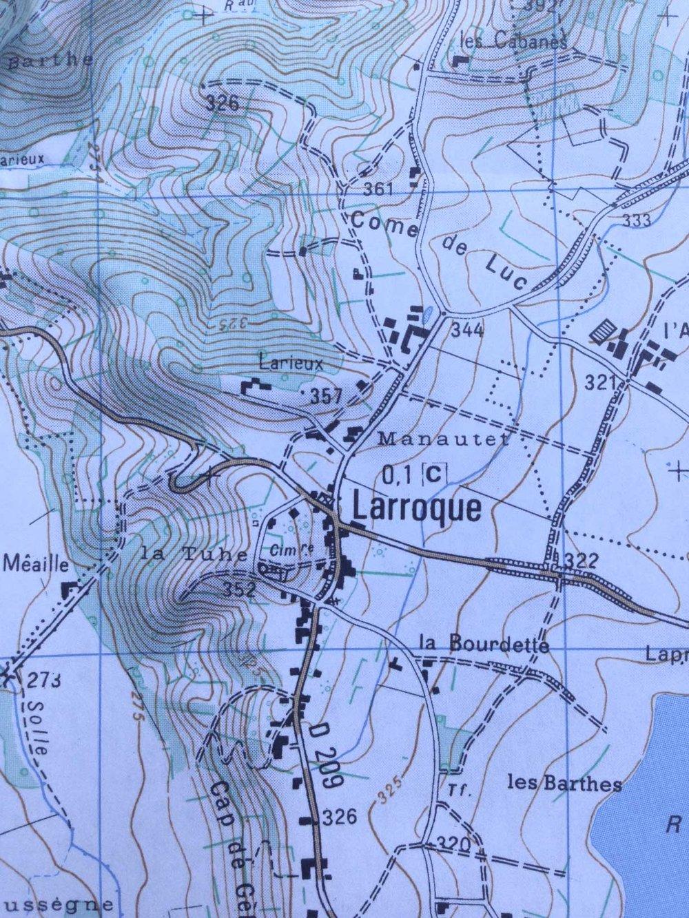 map of Larroque