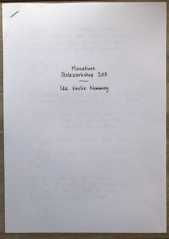 Undervisningsmateriale til lænestol 1