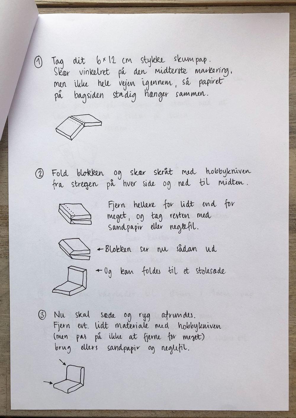 Undervisningsmateriale til lænestol 2