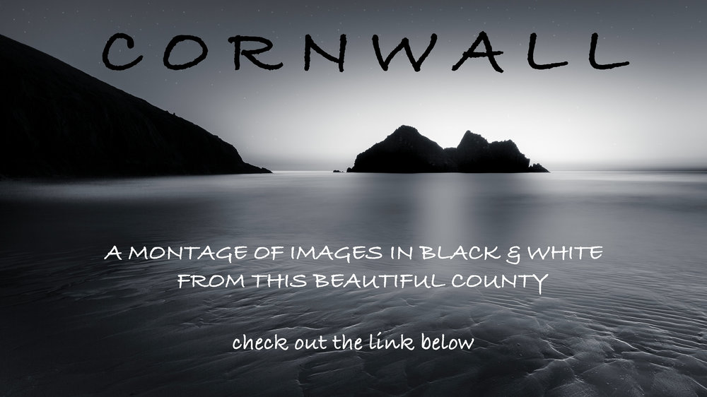 Black & White Image Montage of Cornwall