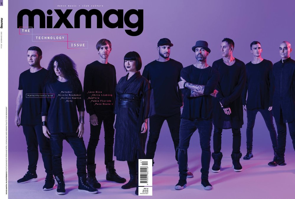 front page cover features - matador cover feature as part of mixmag's technology issue.