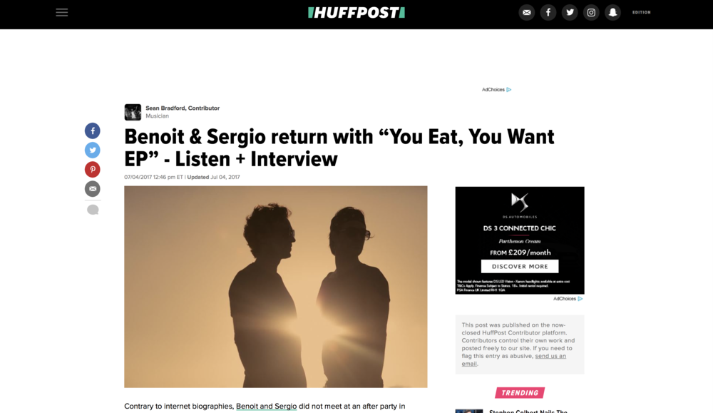 key premiere placement - huff post premiere benoit & sergio's return on culprit la
