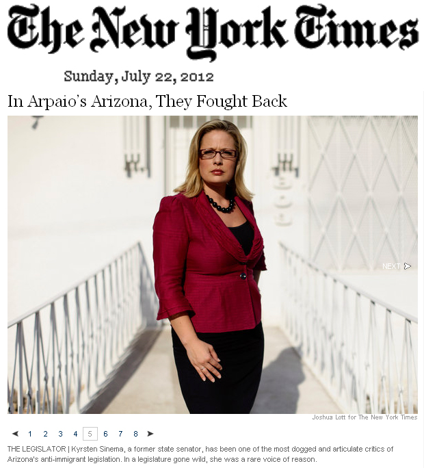 the new york times // kyrsten sinema