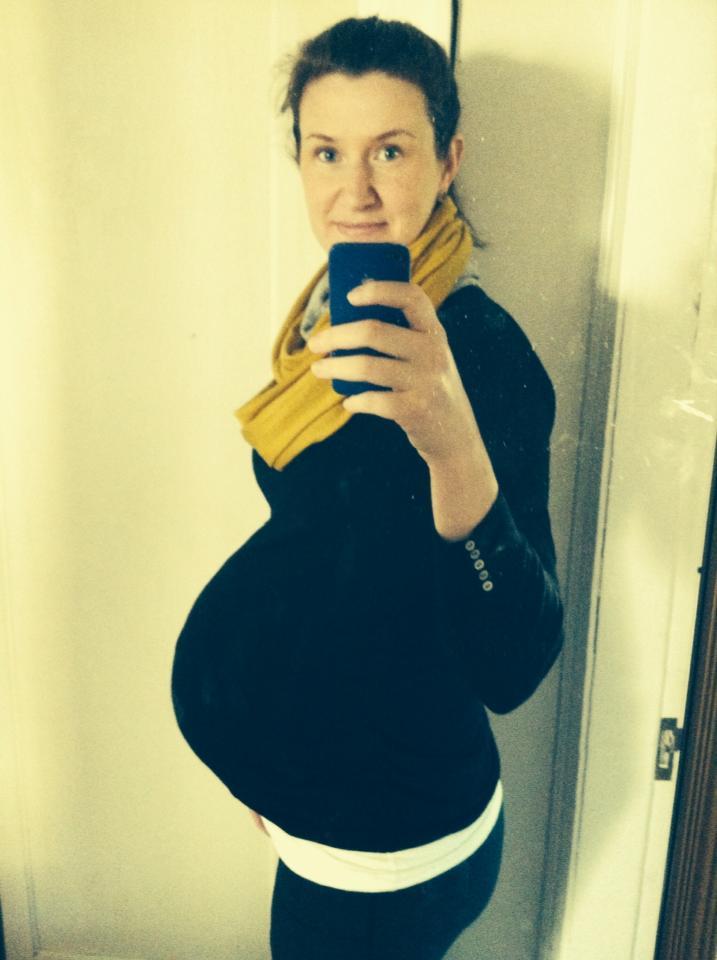 7.5 months pregnant
