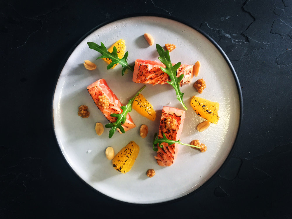 Salmon-charred-ceviche-slices,-orange,-mustard,-watercress,-peanuts,-honey-citrus-dressing.jpg