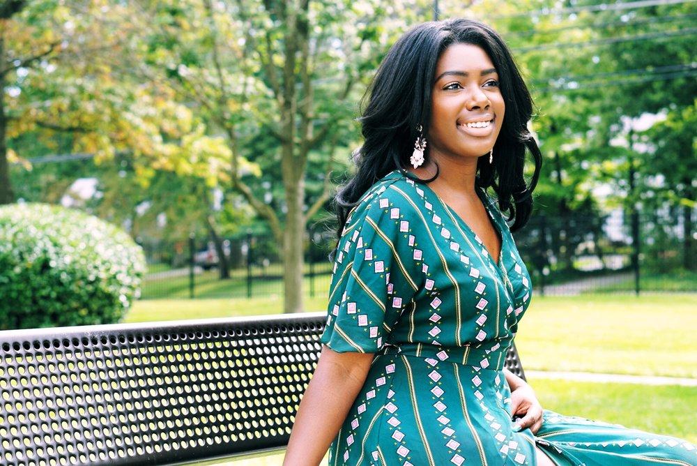 Blogging Rut Green Dress