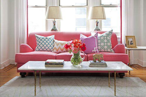 Pink Sofas — Sweet Peach